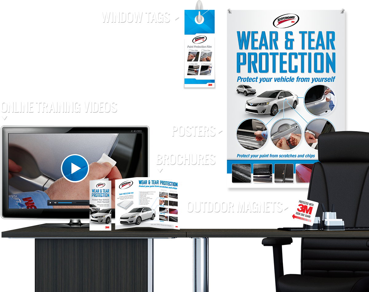 WearAndTearKits.com - 3M Scotchgard Paint Protection Film Wear & Tear Kits delivers superior protection to automotive surfaces against scratches, chips and weathering.